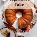 Applesauce Cake | kickassbaker.com pin for pinterest w text overlay
