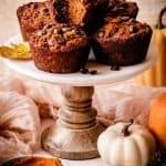 Paleo Pumpkin Muffins | kickassbaker.com pin for pinterest 5