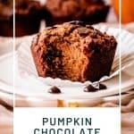 Paleo Pumpkin Muffins | kickassbaker.com pin for pinterest with text 2