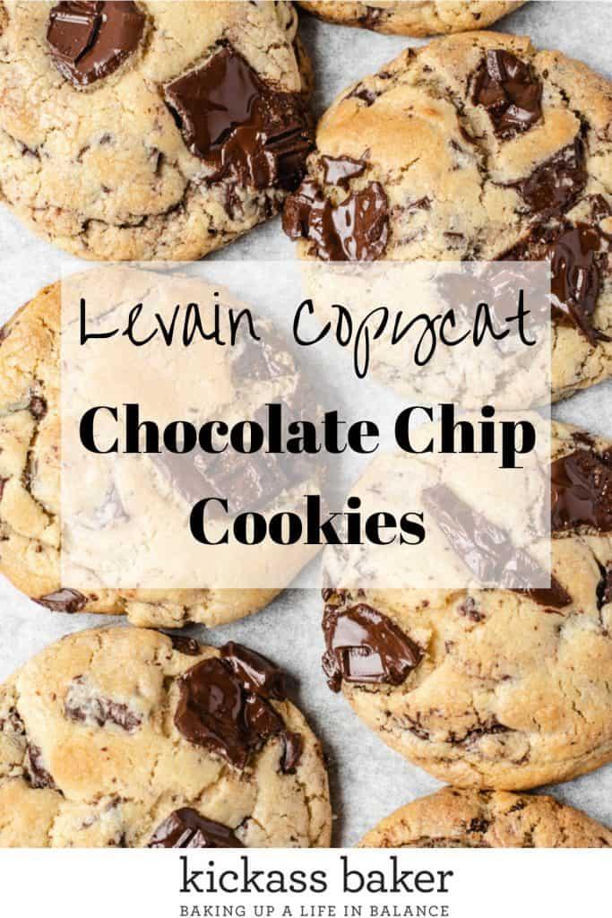 Best Chocolate Chip Cookie Recipe Levain Copycat Recipe   kickassbaker.com Pin for Pinterest