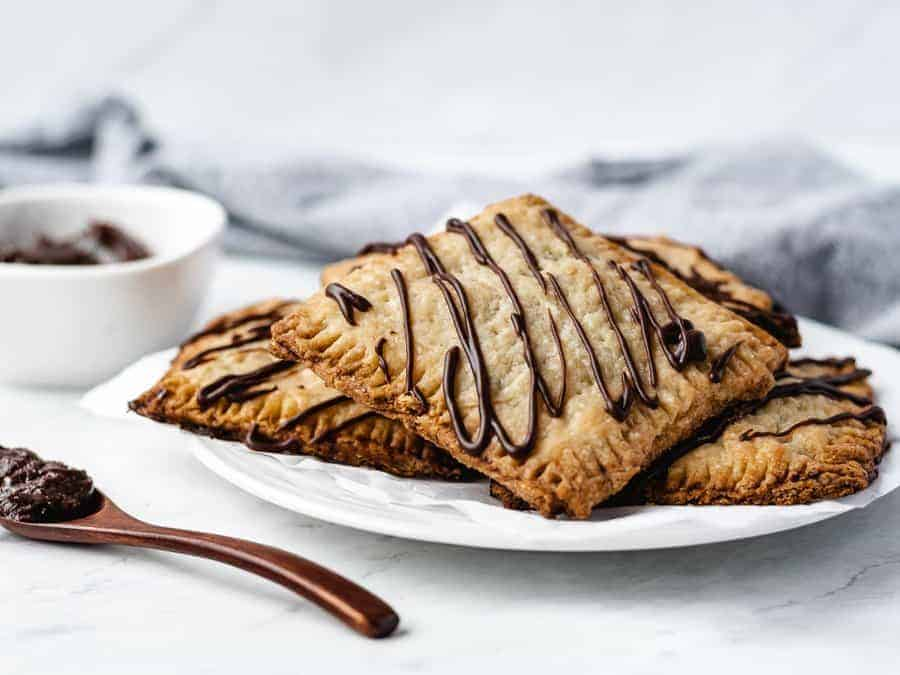 Chocolate Toaster Pastries | kickassbaker.com #poptarts #homemade #madefromscratch #chocolate #toasterpastries #pastries #breakfast