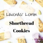 Lavender Lemon Shortbread Cookies | kickassbaker.com pin for Pinterest