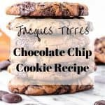 Jacques Torres Chocolate Chip Cookie Recipe | kickassbaker.com pin for Pinterest