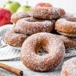 Baked Apple Cider Donuts Recipe | kickassbaker.com pin for Pinterest