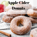 Baked Apple Cider Donuts Recipe | kickassbaker.com pin for Pinterest with text overlay