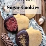 Pumpkin Sugar Cookies | kickassbaker.com pin for pinterest with text overlay