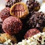 Chocolate Pumpkin Truffles   kickassbaker.com pin for Pinterest