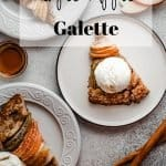 Maple Apple Galette | kickassbaker.com pin for pinterest with text overlay