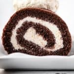 Vietnamese Coffee Swiss Roll Cake | kickassbaker.com pin for Pinterest