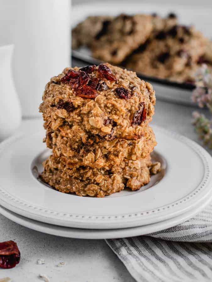 stack of gluten-free breakfast cookies on a plate