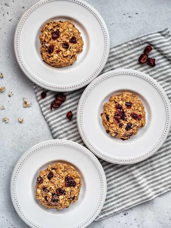 gluten-free breakfast cookies on white plates