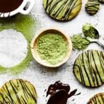 Matcha Green Tea Shortbread Cookies | kickassbaker.com pin for pinterest