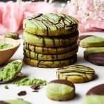 Matcha Green Tea Shortbread Cookies | kickassbaker.com pin for pinterest 2