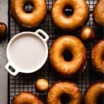 How to Make Glazed Donuts at Home | kickassbaker.com pin for pinterest