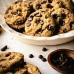 Vegan Chocolate Chip Cookies | kickassbaker.com pin for pinterest 2