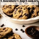Vegan Chocolate Chip Cookies | kickassbaker.com pin for pinterest with text 2