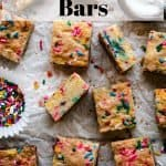 Sugar Cookie Bars | kickassbaker.com pin for pinterest with text 1