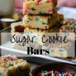 Sugar Cookie Bars | kickassbaker.com pin for pinterest with text 2
