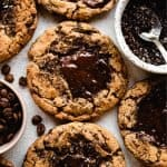 Espresso Chocolate Chunk Cookies | kickassbaker.com pin for pinterest 1
