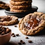Espresso Chocolate Chunk Cookies | kickassbaker.com pin for pinterest 2