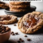 Espresso Chocolate Chunk Cookies | kickassbaker.com pin for pinterest with text 2