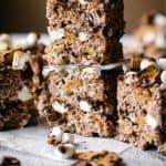 S'mores Rice Krispie Treats | kickassbaker.com pin for pinterest 1