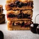 Cherry Pie Bars | kickassbaker.com pin for pinterest with text 1