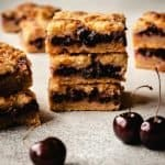 Cherry Pie Bars | kickassbaker.com pin for pinterest with text 2