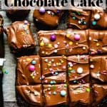 One Bowl Chocolate Cake | kickassbaker.com pin for pinterest with text 1