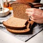 Honey Wheat Sandwich Bread | kickassbaker.com pin for Pinterest