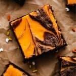 Halloween Cream Cheese Brownies | kickassbaker.com pin for pinterest 1