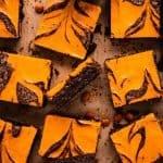 Halloween Cream Cheese Brownies | kickassbaker.com pin for pinterest 3