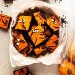 Halloween Cream Cheese Brownies | kickassbaker.com pin for pinterest 5
