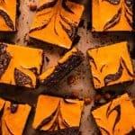 Halloween Cream Cheese Brownies | kickassbaker.com pin for pinterest with text 3