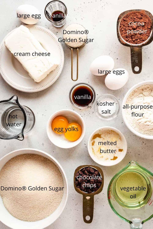 Halloween Cream Cheese Brownies ingredients | kickassbaker.com