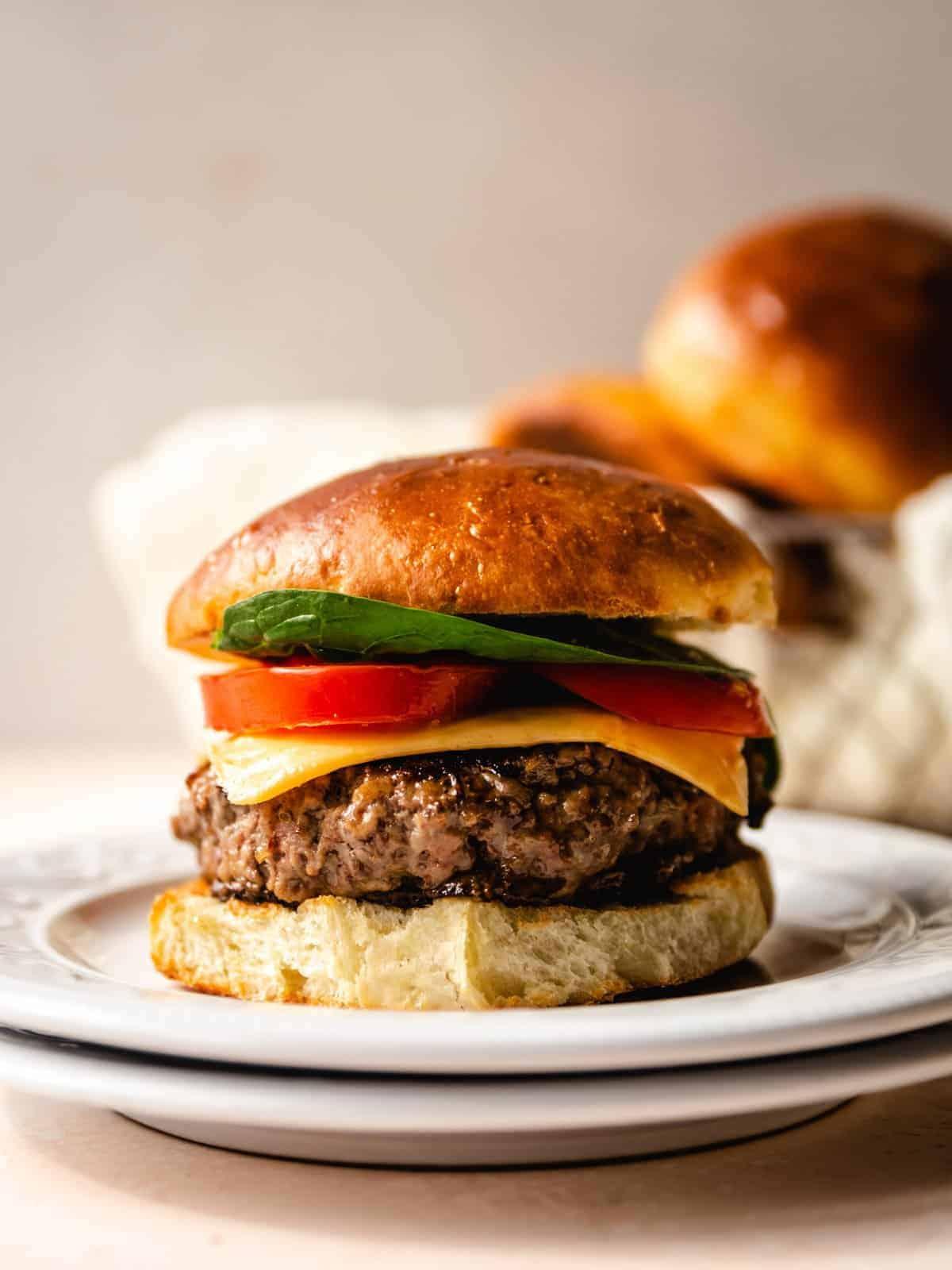burger with brioche bun