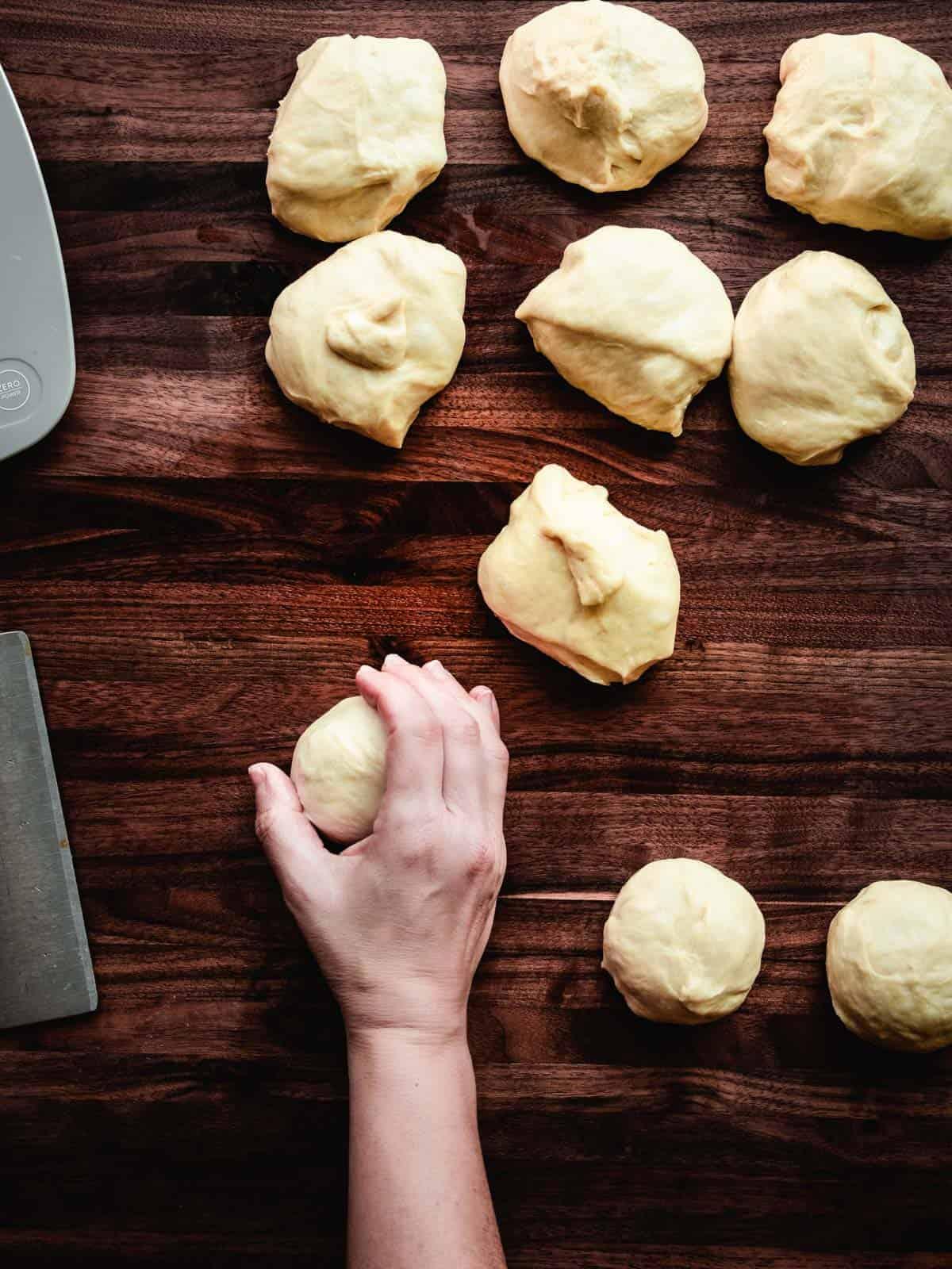 how to shape buns