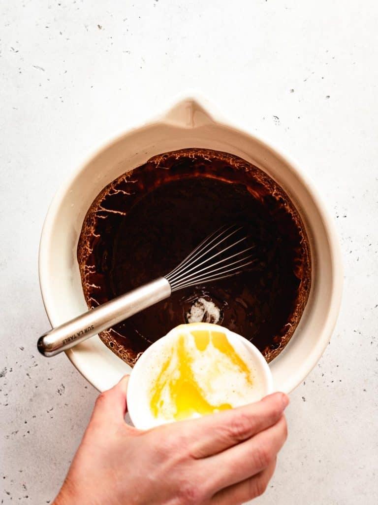 step 2 add melted butter | kickassbaker.com