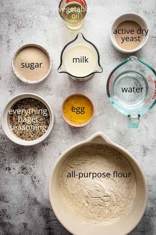 Ingredients to make jerusalem bagels