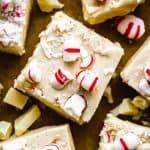 White Chocolate Peppermint Fudge | kickassbaker.com pin for pinterest 5