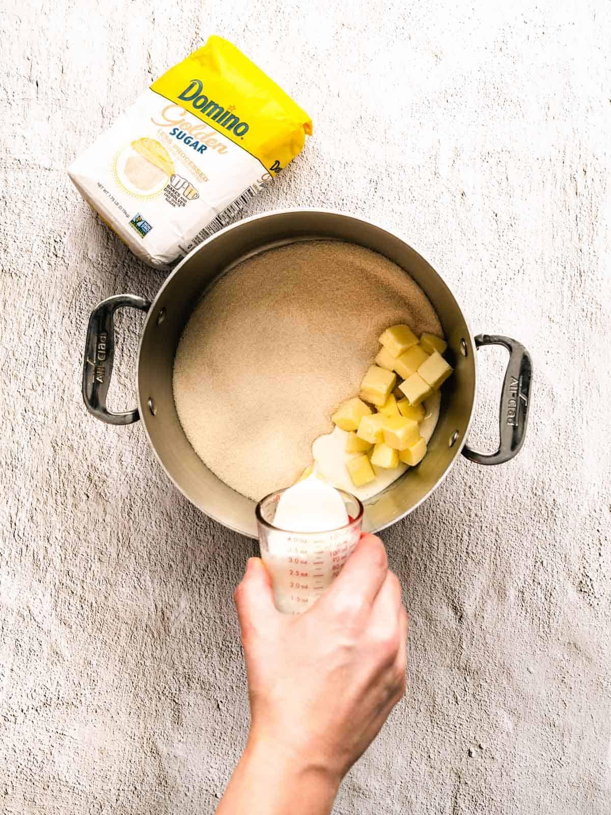how to make white chocolate peppermint fudge step 1