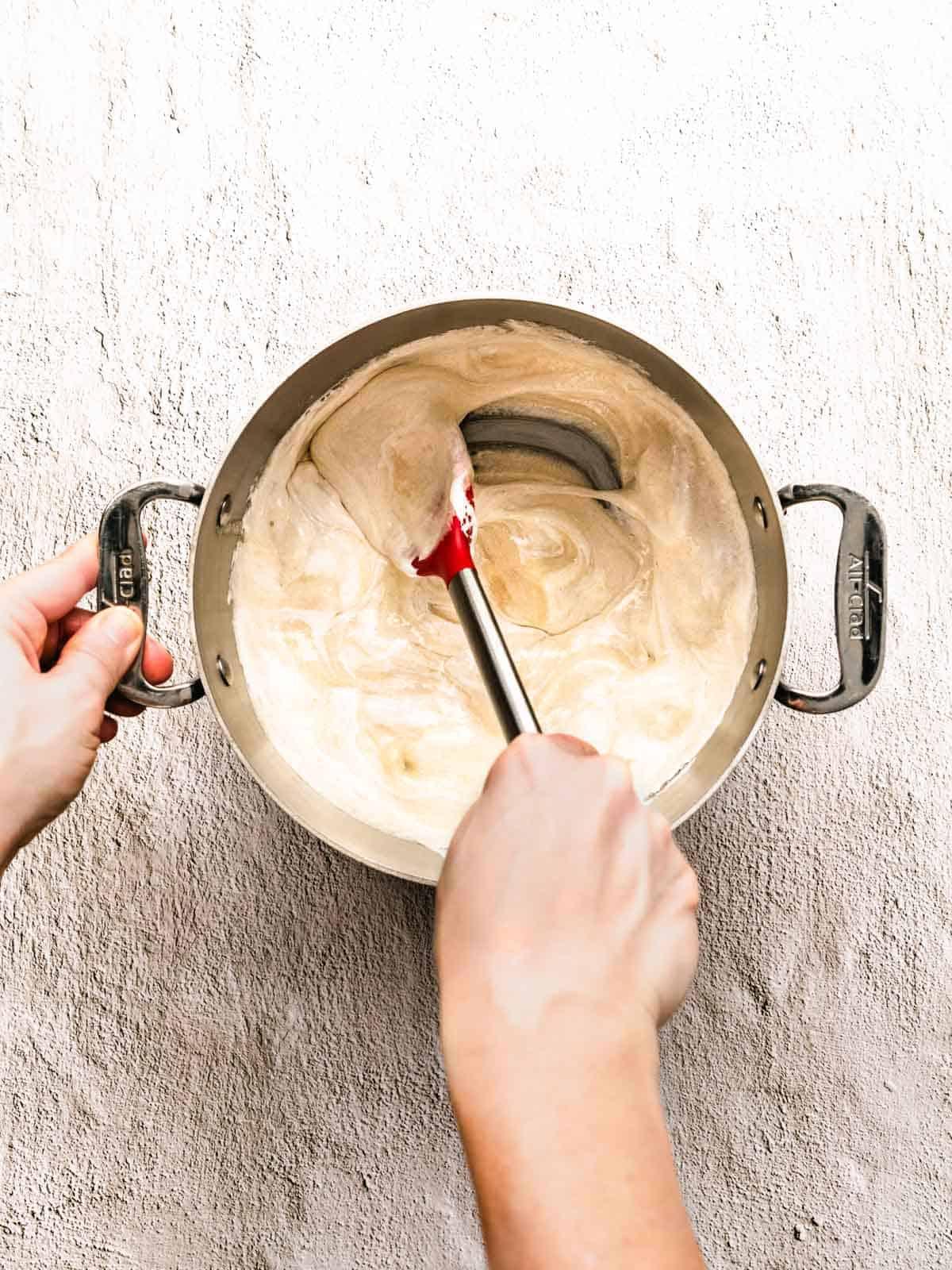 how to make white chocolate peppermint fudge step 5