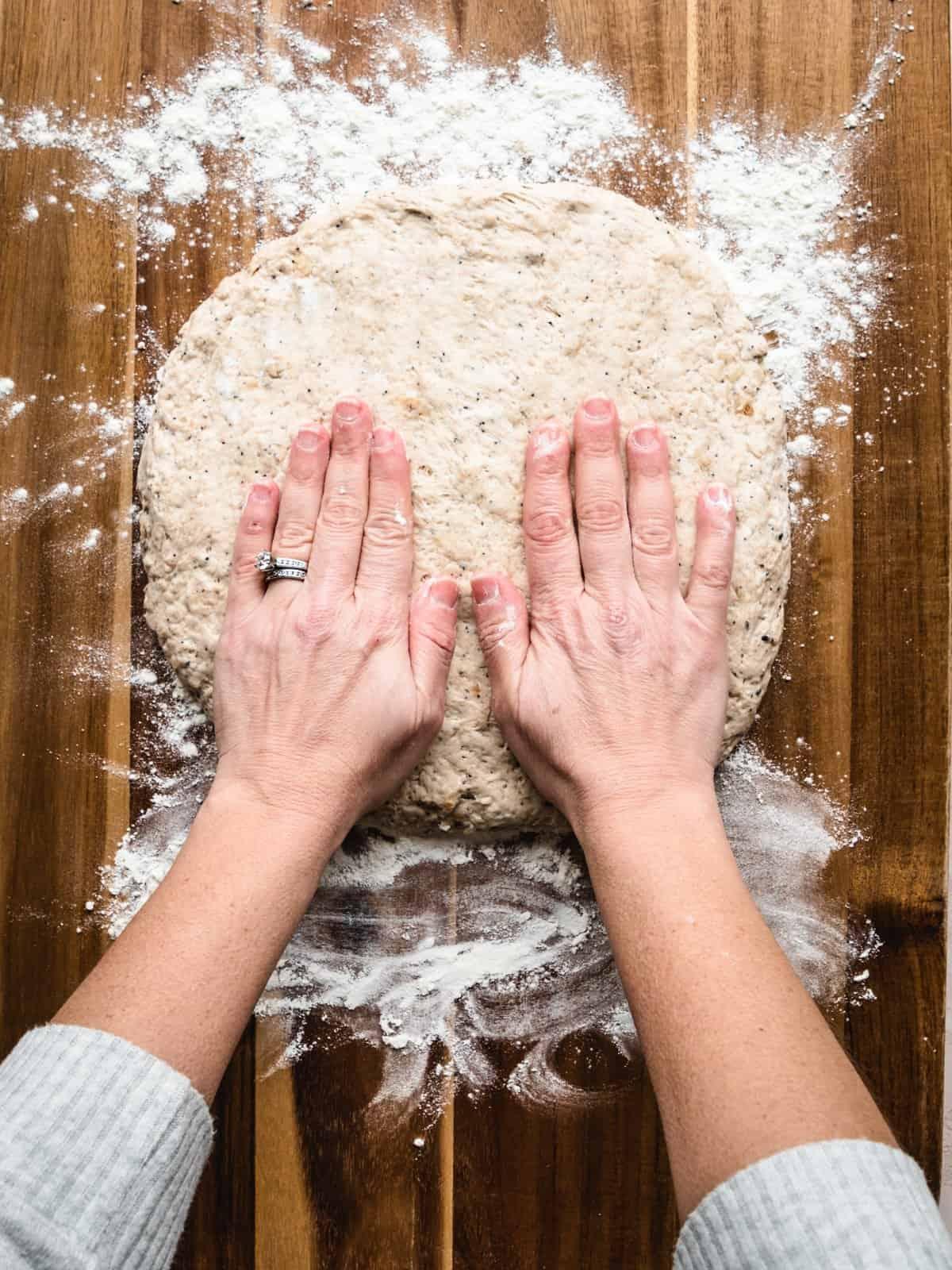 no knead whole wheat bread step 3