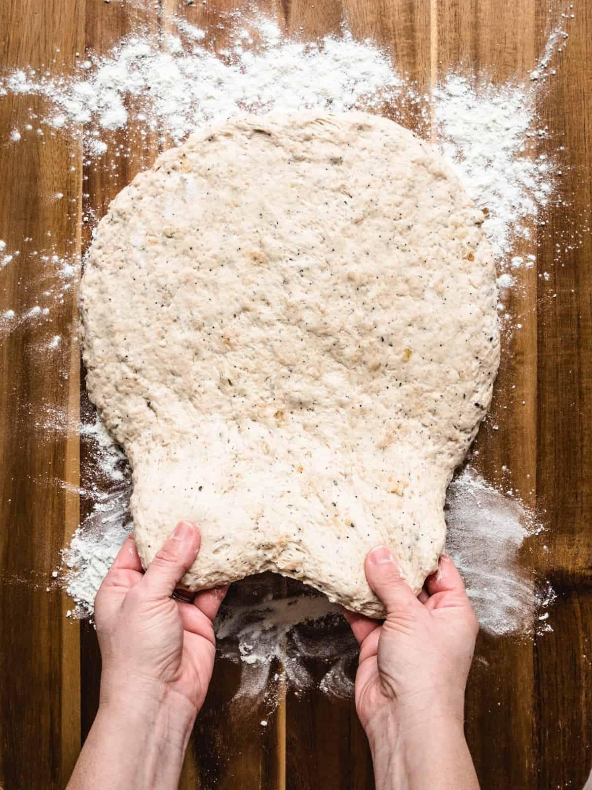 no knead whole wheat bread step 4