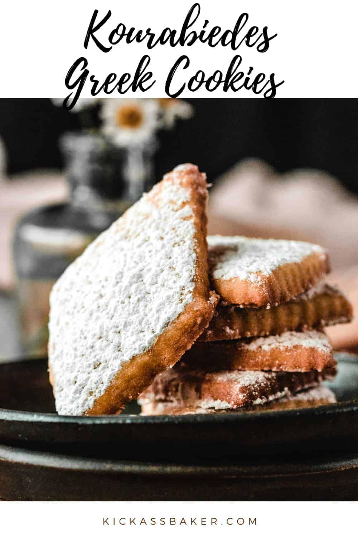 Kourabiedes Greek Cookies | kickassbaker.com pin for pinterest