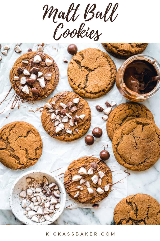 Malt Book Cookies | kickassbaker.com pin for pinterest