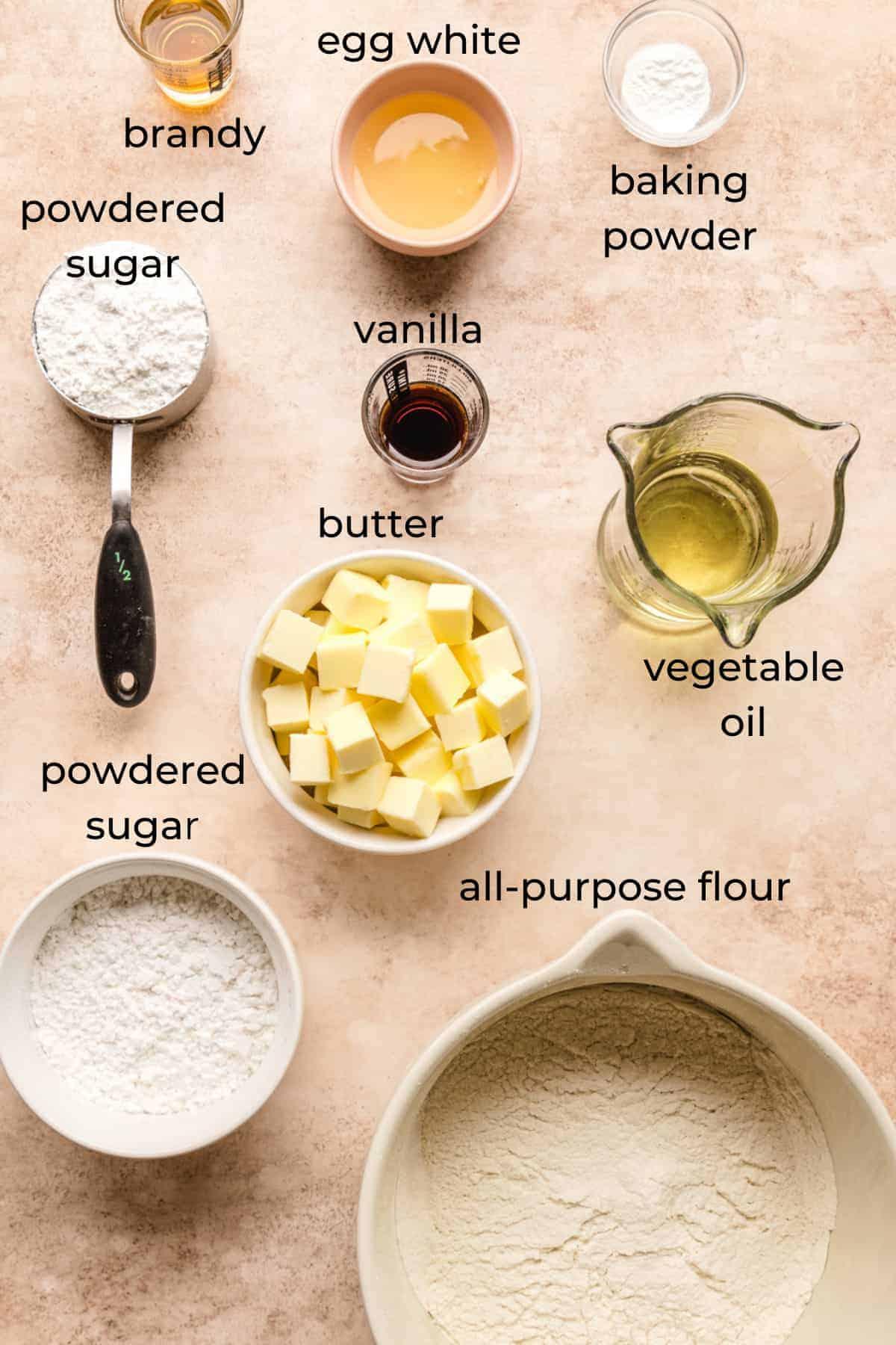 ingredients to make kourabiedes