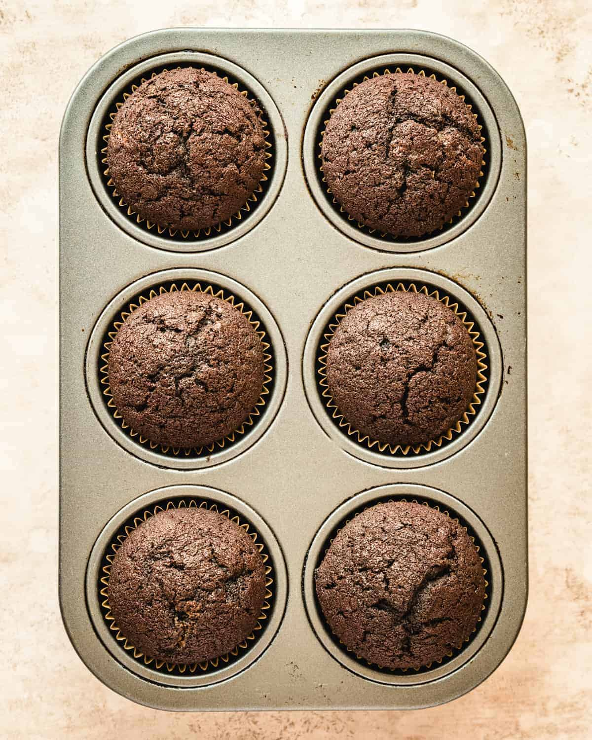 freshly baked small batch chocolate cupcakes