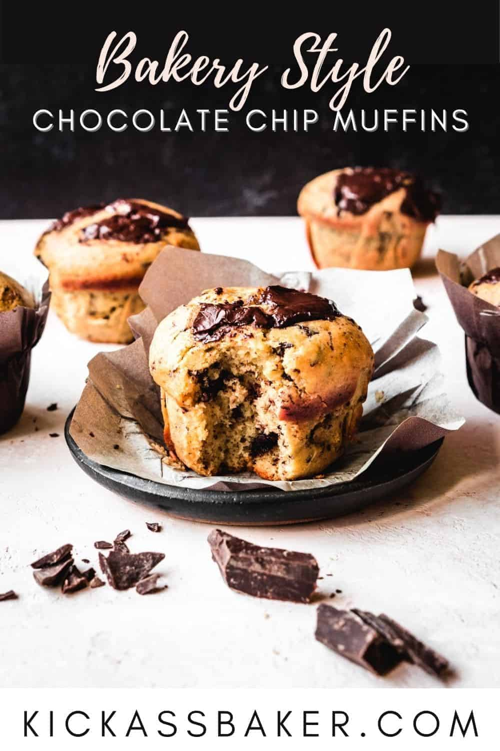 chocolate chip muffin with text above and below