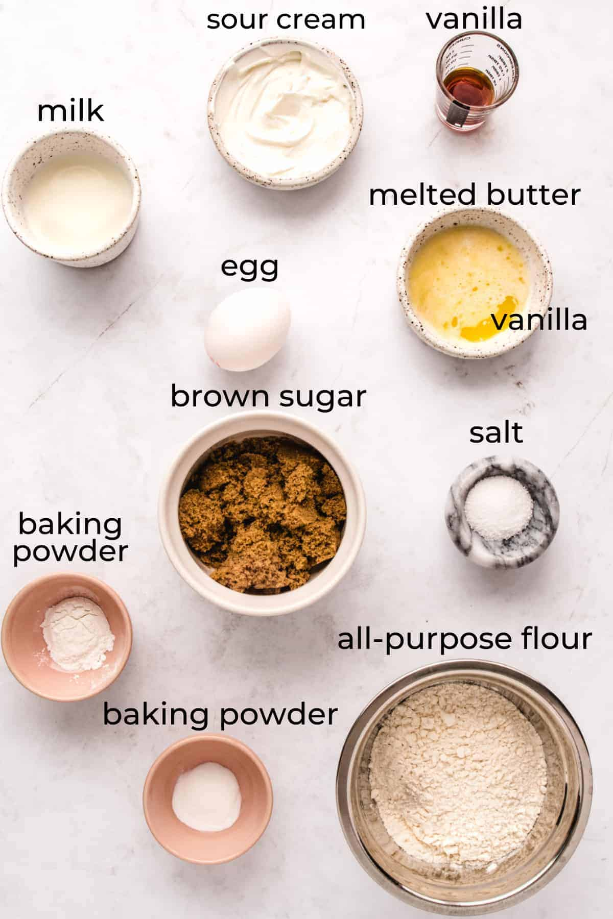 ingredients needed to make baked donuts